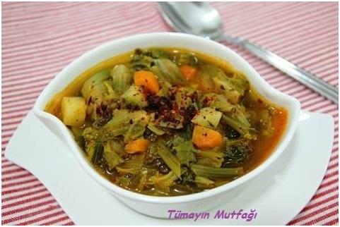 Ispanak Sapı Çorbası