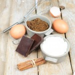 Sweet ingredients for cake