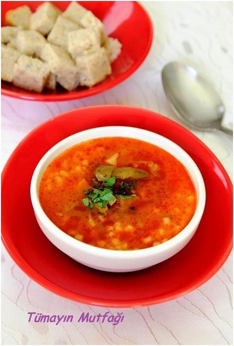 Sebzeli Kuskus Çorbası