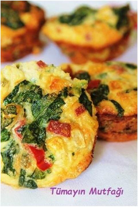 Sebzeli Muffin Omlet