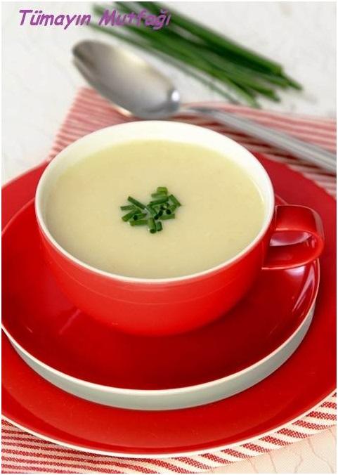 Patatesli Beyaz Hindiba Çorbası