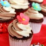 çift renk kremalı kakaolu cupcake