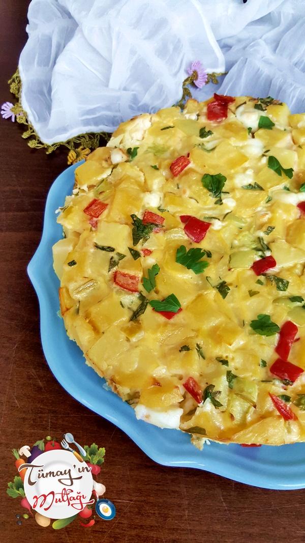 Patatesli Pasta Omlet