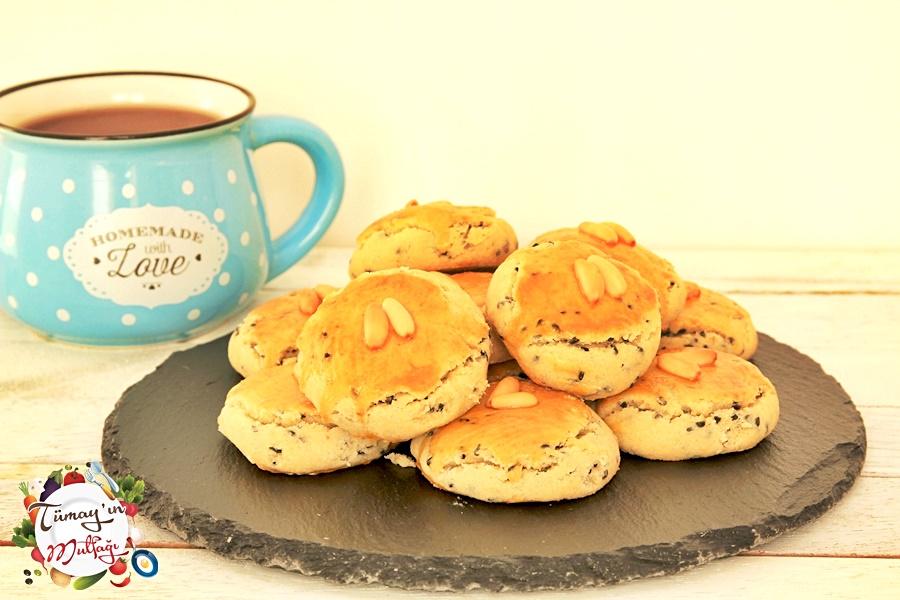 mahlepli tuzlu minik kurabiyeler