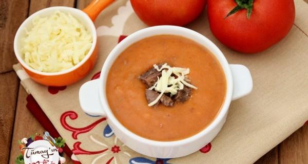 Kavurmalı Domates Çorbası