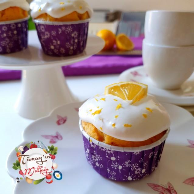 Kremalı Limonlu Cupcake