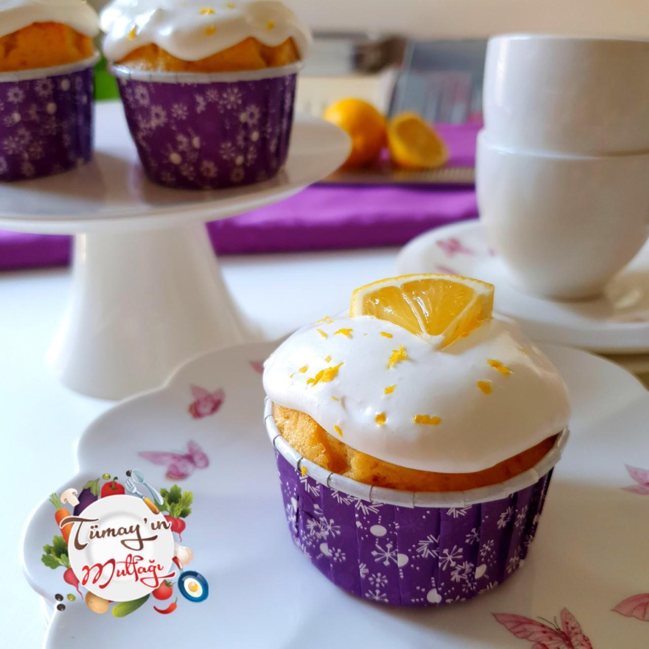 Kremali Limonlu Cupcake