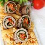 ıspanaklı sebzeli biftek rulo