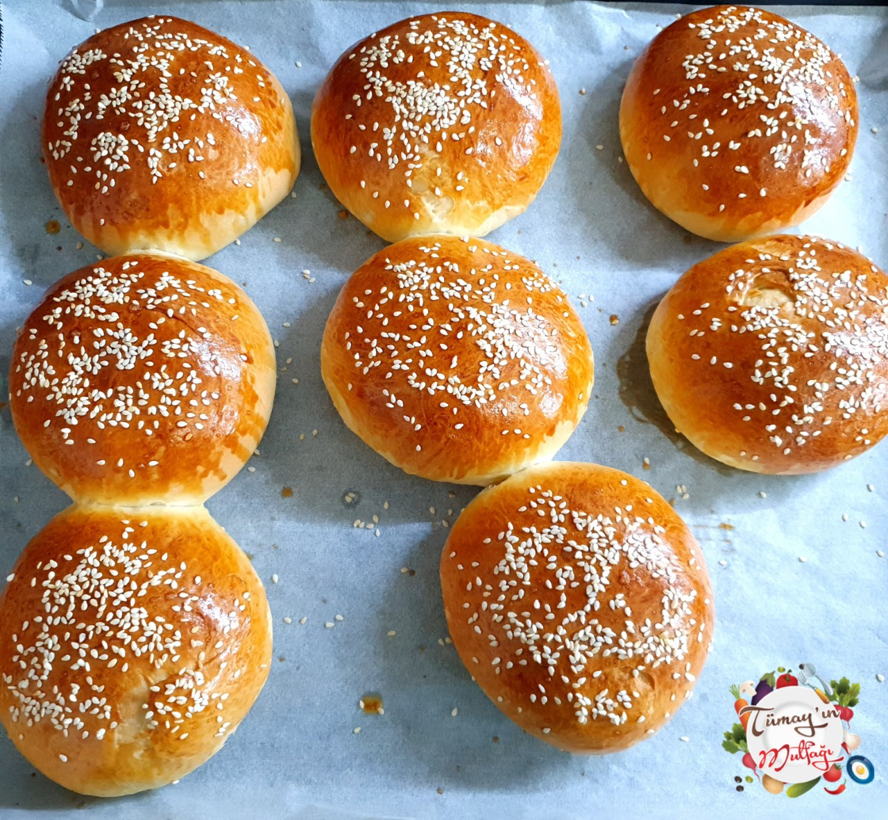 Hamburger ekmegi fırın sonrası