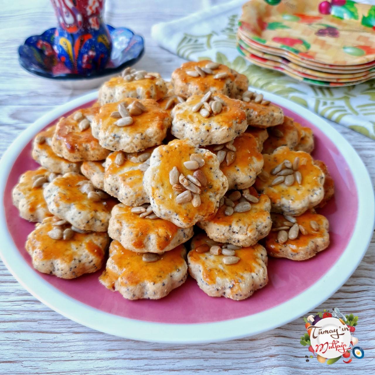 ay çekirdekli tuzlu kurabiye