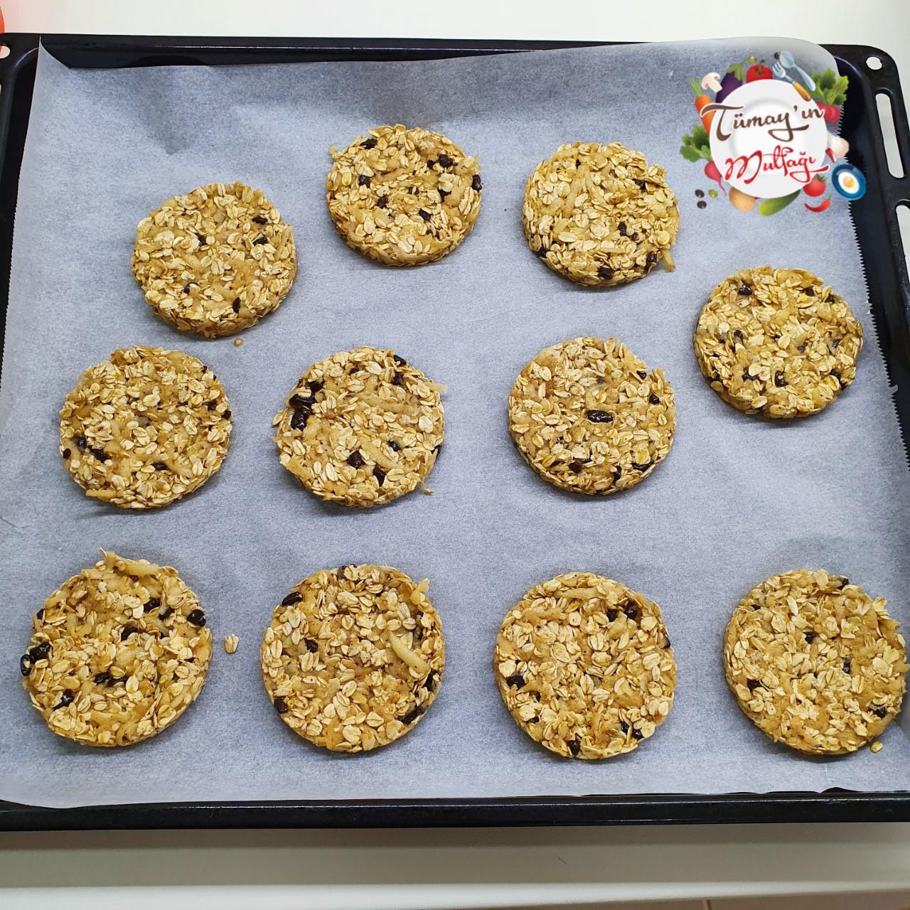 yulaflı fit kurabiye fırın öncesi